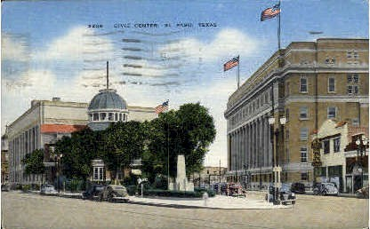 Civic Center - El Paso, Texas TX Postcard