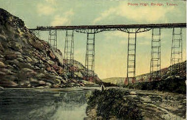 Pecos High Bridge - El Paso, Texas TX Postcard