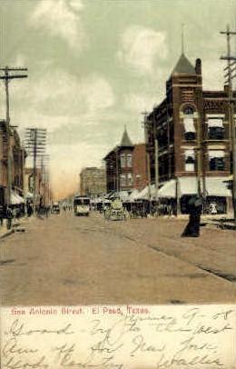 San Antonio Street - El Paso, Texas TX Postcard