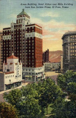 Kress Building - El Paso, Texas TX Postcard
