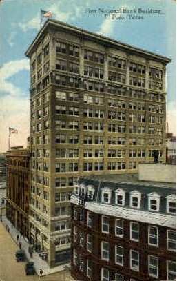 First National Bank Building - El Paso, Texas TX Postcard