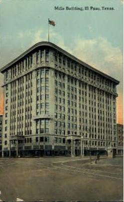 Mills Building - El Paso, Texas TX Postcard