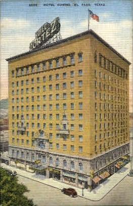 Hotel Cortez - El Paso, Texas TX Postcard