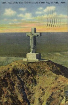 Christ The King Statue - El Paso, Texas TX Postcard