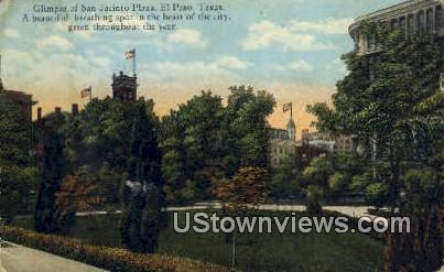 San Jacinto Plaza - El Paso, Texas TX Postcard