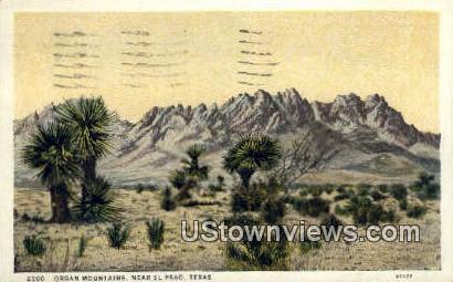 Organ Mountains - El Paso, Texas TX Postcard