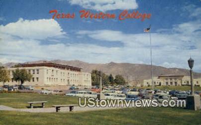 Texas Western College - El Paso Postcard