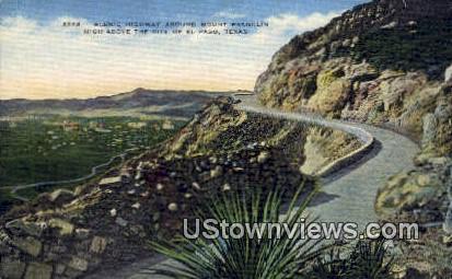 Mt Franklin - El Paso, Texas TX Postcard