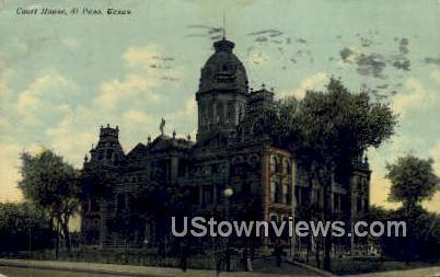 Court House - El Paso, Texas TX Postcard