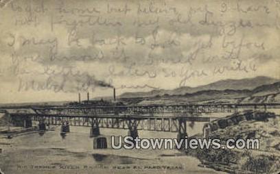 Rio Grande River Bridge - El Paso, Texas TX Postcard