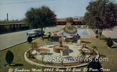 El Sombrero Motel - El Paso, Texas TX Postcard