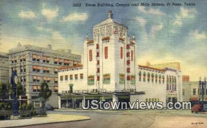 Kress Bldg, Oregon & Mills St - El Paso, Texas TX Postcard