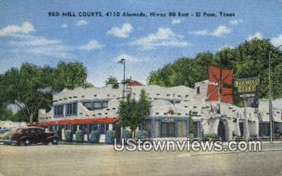 Red Mill Courts - El Paso, Texas TX Postcard