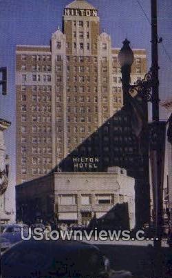 Pioneer Plaza 7 Hilton Hotel - El Paso, Texas TX Postcard
