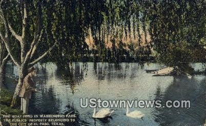 Boat Pond, Washington Park - El Paso, Texas TX Postcard