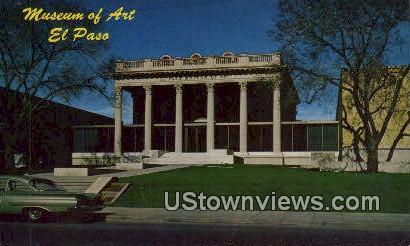 Museum of Art, El Paso - Texas TX Postcard