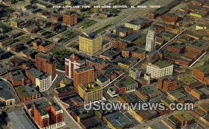 Business Section - El Paso, Texas TX Postcard