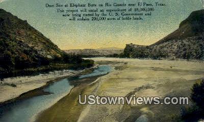 Elephant Butte, Rio Grande - El Paso, Texas TX Postcard