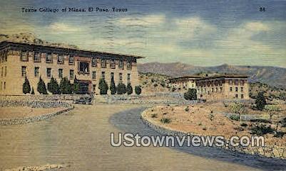 Texas College of Mines - El Paso Postcard