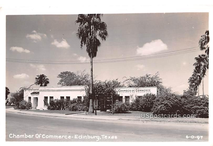 Chamber of Commerce - Edinburg, Texas TX Postcard