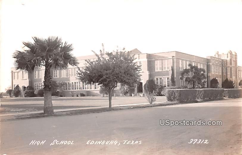 High School - Edinburg, Texas TX Postcard