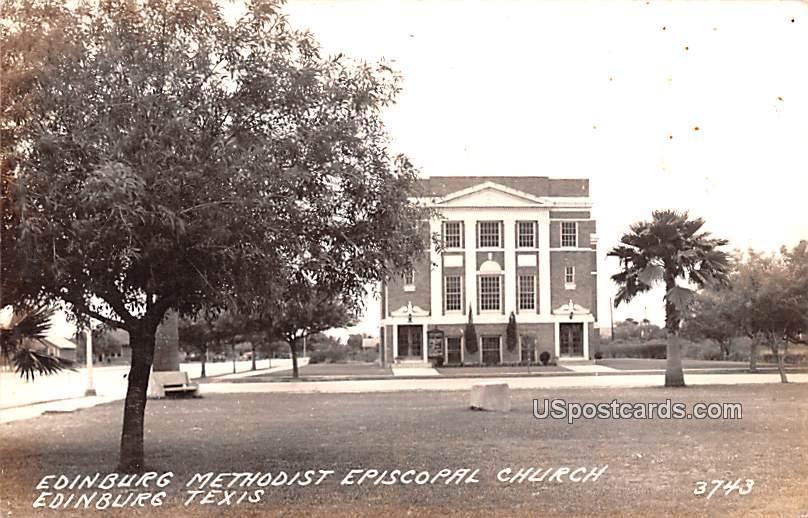 Edinburg Methodist Episcopal Church - Texas TX Postcard