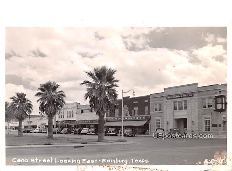 Cano Street - Edinburg, Texas TX Postcard