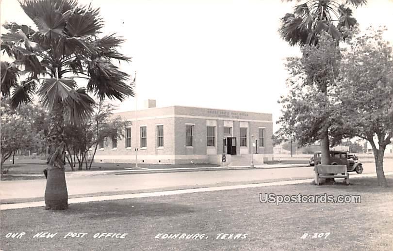 Our New Post Office - Edinburg, Texas TX Postcard
