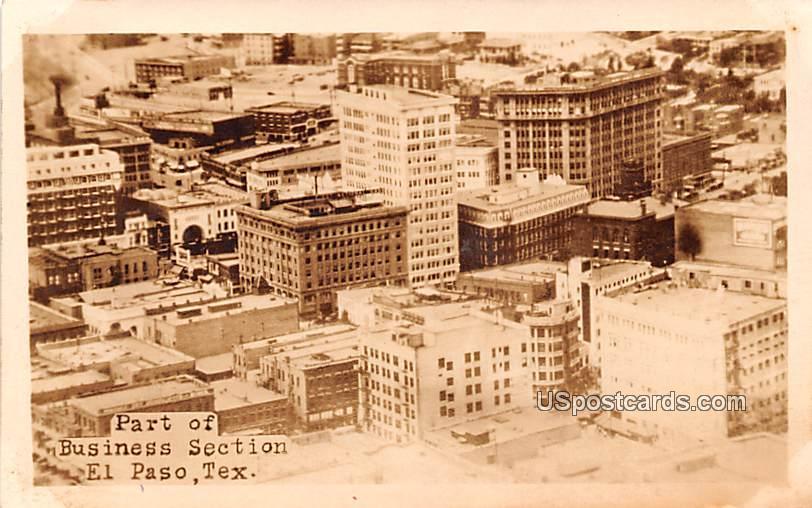 Part of Business Section - El Paso, Texas TX Postcard