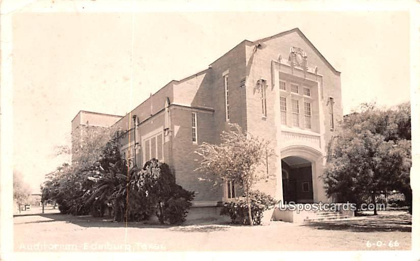 Auditorium - Edinburg, Texas TX Postcard