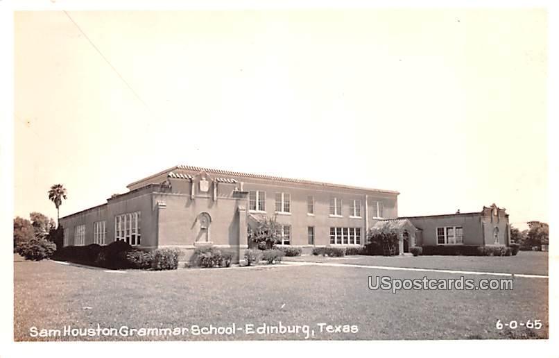 Sam Houston Grammar School - Edinburg, Texas TX Postcard