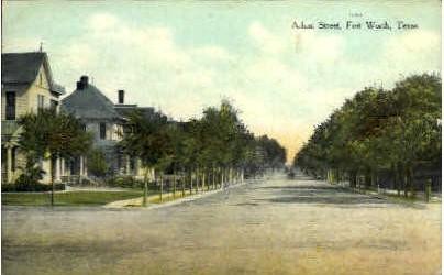 Adam Street  - Fort Worth, Texas TX Postcard