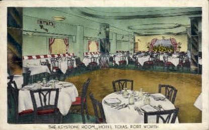 The Keystone Room - Fort Worth, Texas TX Postcard