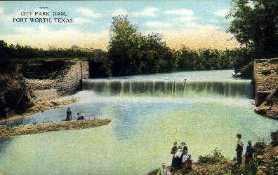 City Park Dam - Fort Worth, Texas TX Postcard