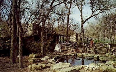 Texas Log Cabin Villiage - Fort Worth Postcard