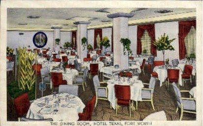 The Dining Room - Fort Worth, Texas TX Postcard