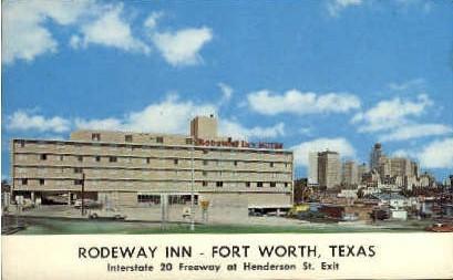 Rodeway Inn - Fort Worth, Texas TX Postcard