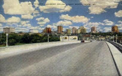 Skyline From New Jacksboro Highway - Fort Worth, Texas TX Postcard
