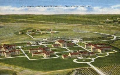 U. S. Public Health Service Hospital - Fort Worth, Texas TX Postcard