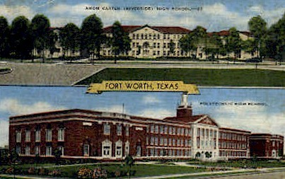 Amon Carter  - Fort Worth, Texas TX Postcard