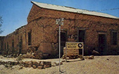 Oldest House - Fort Stockton, Texas TX Postcard