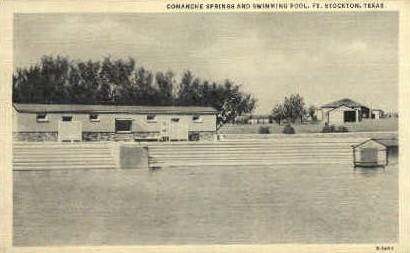 Comanche Springs - Fort Stockton, Texas TX Postcard