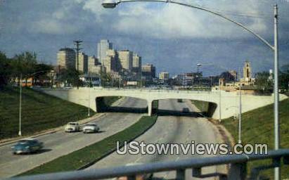 Downtown Cowtown, Typical Freeway - Fort Worth, Texas TX Postcard