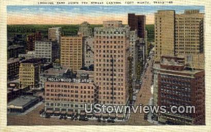7th Street Canyon - Fort Worth, Texas TX Postcard