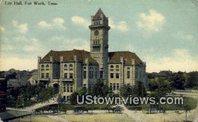 City Hall - Fort Worth, Texas TX Postcard