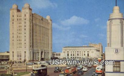 Texas Pacific & Post Office Plaza - Fort Worth Postcard