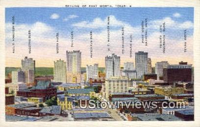 Fort Worth, TX     ;     Fort Worth, Texas Postcard