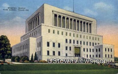Masonic Temple - Fort Worth, Texas TX Postcard