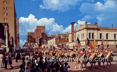 Annual Stock Show Rodeo Parade - Fort Worth, Texas TX Postcard