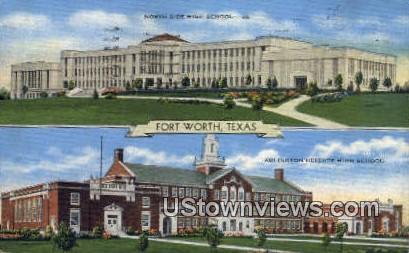 North Side High School - Fort Worth, Texas TX Postcard